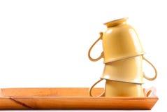 Pila de tazas de café Imagen de archivo libre de regalías