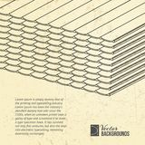 Pila de tejas de techumbre embaladas. Fotografía de archivo libre de regalías