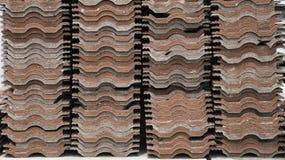 Pila de tejas de techumbre Textura Foto de archivo