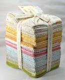 Pila de tela que acolcha del algodón Foto de archivo libre de regalías