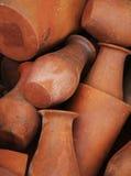 Pila de textura de los floreros de la arcilla Imágenes de archivo libres de regalías