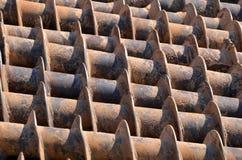 Pila de textura de los taladros Imagenes de archivo