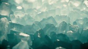 Pila de tiro azul del primer de los cristales almacen de video