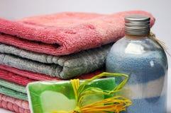 Pila de toallas Imagenes de archivo