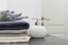 Pila de toallas Fotografía de archivo