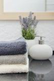 Pila de toallas Imagen de archivo libre de regalías