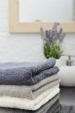 Pila de toallas Foto de archivo libre de regalías