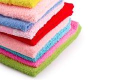 Pila de toallas del colorfull Foto de archivo libre de regalías