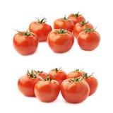 Pila de tomates múltiples aislados Imágenes de archivo libres de regalías