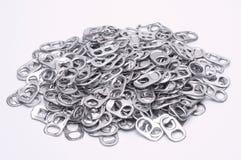 Pila de tops de aluminio del estallido Foto de archivo