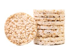 Pila de tortas de arroz Imagenes de archivo