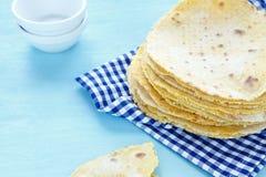 Pila de tortillas de la harina Imagen de archivo