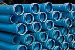 Pilas de tubo del PVC de C900 DR18 Foto de archivo libre de regalías