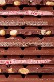 Pila de vario chocolate fotografía de archivo