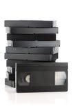 Pila de videocintas fotografía de archivo libre de regalías