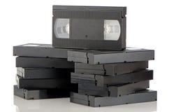 Pila de videocintas fotografía de archivo