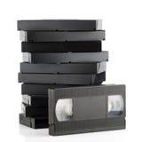 Pila de videocintas fotos de archivo libres de regalías