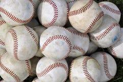 Pila de viejos béisboles Foto de archivo libre de regalías