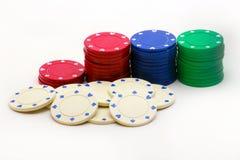Pila de virutas de póker Imagen de archivo