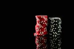 Pila de virutas de póker Fotos de archivo libres de regalías
