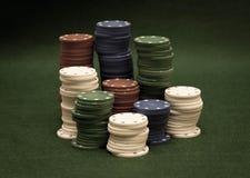 Pila de virutas de póker Fotografía de archivo
