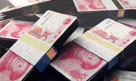 Pila de Yuan Bank Notes stock de ilustración