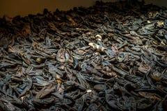 Pila de zapatos del holocausto Imágenes de archivo libres de regalías