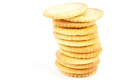 Pila dei cracker immagini stock