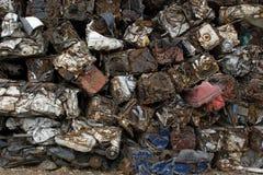 Pila dei cubi dell'automobile Fotografia Stock Libera da Diritti
