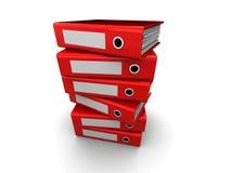 Pila dei dispositivi di piegatura illustrazione di stock