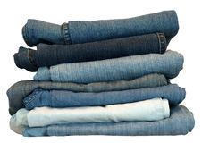 Pila dei jeans Fotografie Stock Libere da Diritti