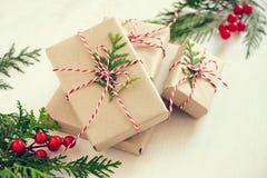 Pila dei regali di natale Immagine Stock