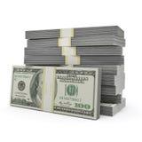 Pila dei soldi fotografia stock