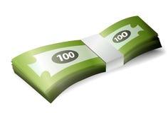 Pila del billete de banco del dinero stock de ilustración