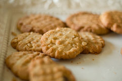Pila del biscotto del burro di arachide Immagine Stock