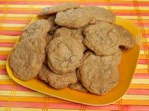 Pila del biscotto di pepita di cioccolato immagini stock libere da diritti