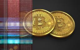 pila del bitcoin 3d Fotografie Stock