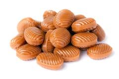 Pila del caramelo aislada en blanco. Fotografía de archivo libre de regalías
