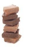Pila del chocolate Imágenes de archivo libres de regalías