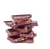 Pila del chocolate Foto de archivo libre de regalías