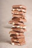 Pila del cioccolato Fotografie Stock Libere da Diritti