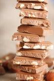 Pila del cioccolato Fotografia Stock