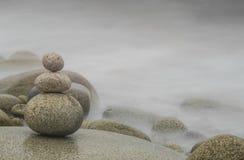 Pila del ciottolo, Zen Background Immagine Stock