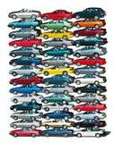 Pila del coche Imágenes de archivo libres de regalías