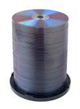 Pila del compact disc di DVD Immagine Stock