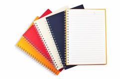 Pila del cuaderno Imágenes de archivo libres de regalías