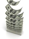 Pila del dólar Imágenes de archivo libres de regalías