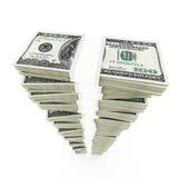 Pila del dólar Fotos de archivo