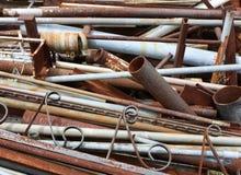 Pila del desecho de metal Imagen de archivo libre de regalías