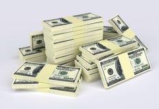 Pila del dinero fotos de archivo libres de regalías